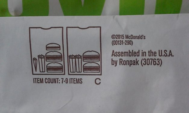Why are there names on the bottom of McDonald's bags?