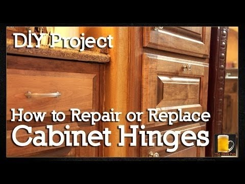 How to repair or replace Cabinet Hinges - The Geek Pub