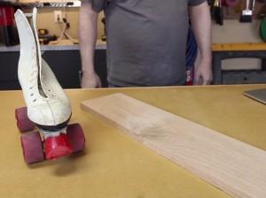 rollerskate and oak plank-01