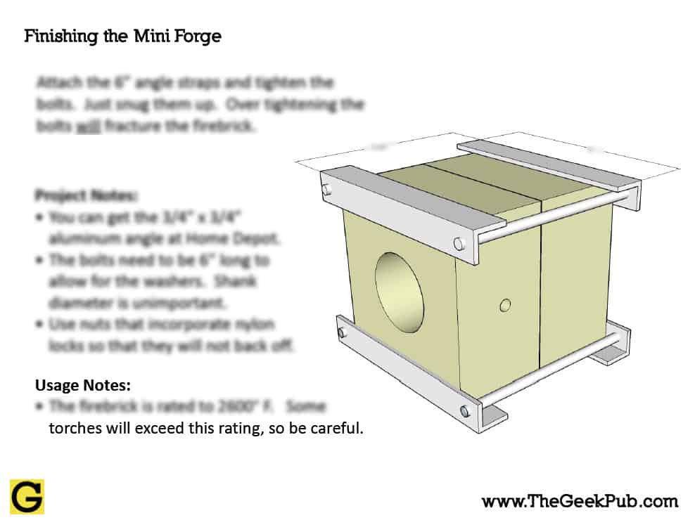 homemade mini forge plans the geek pub