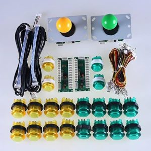 Arcade Control Kit 2 Player LED Green Yellow Sanwa 0001