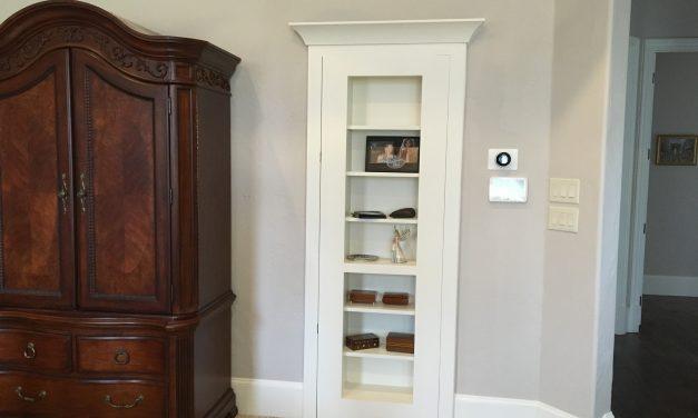 Make a Bookshelf Door Hidden Closet