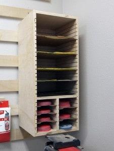 Sandpaper Storage Station