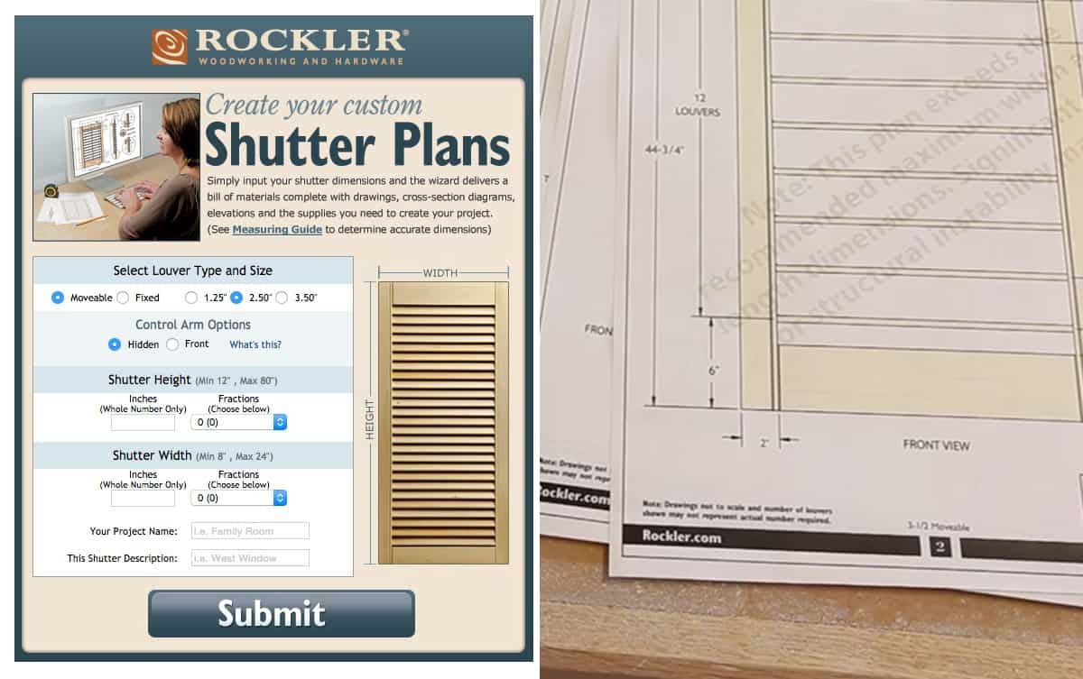 How to make plantation shutters the geek pub for Plantation shutter plans