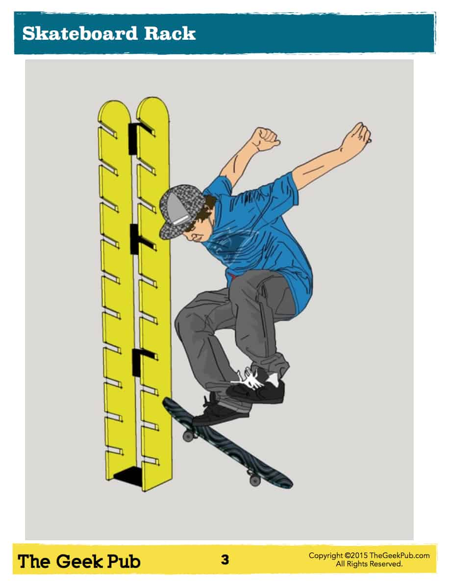 Skateboard Rack Plans - The Geek Pub