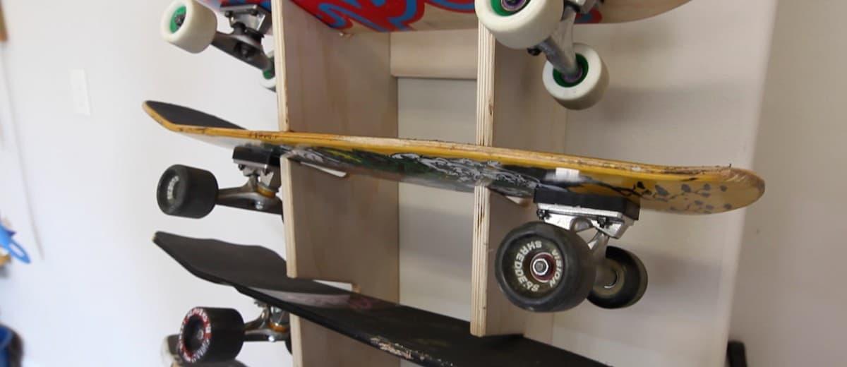 How to make a Skateboard Rack - The Geek Pub