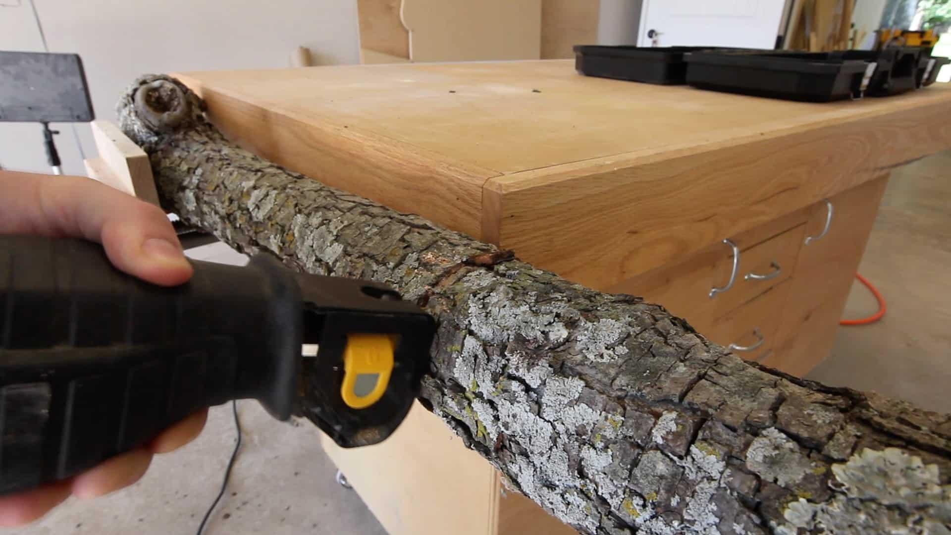 Cutting A Log : Cutting a log on band saw the geek pub