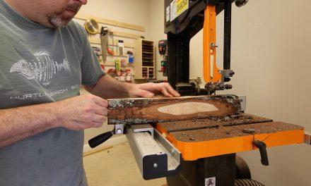 Cutting a Log on a Band Saw