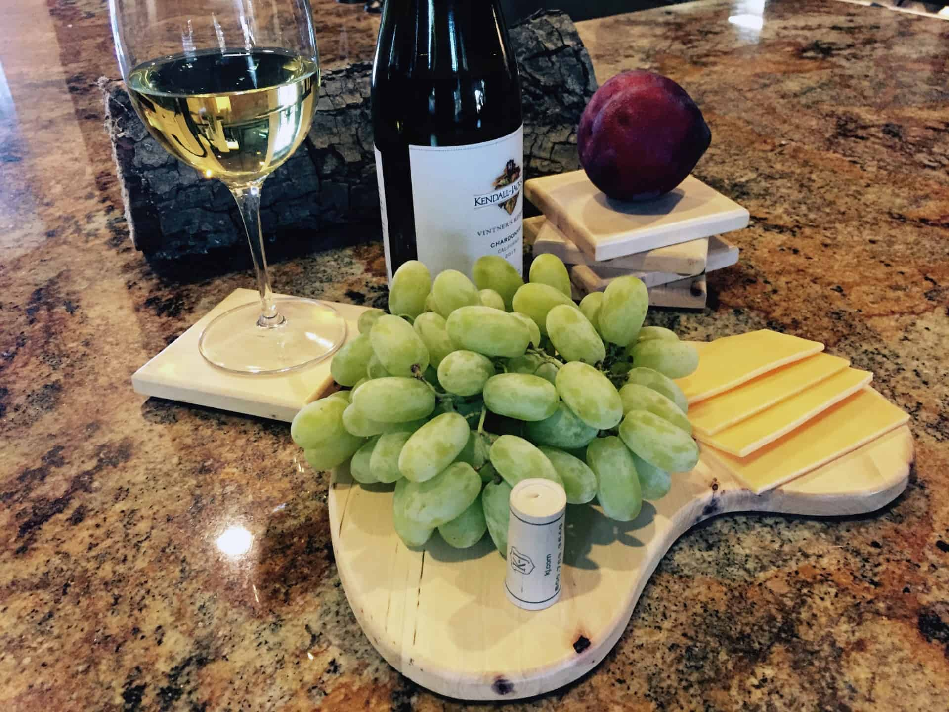 Coasters and Cheese Tray from a Tree Branch - pic