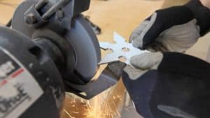 Make a Throwing Star from a Saw Blade 0012