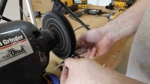 Make a Throwing Star from a Saw Blade 0015