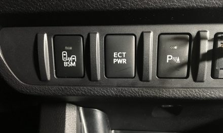 What is the ECT PWR button on the Toyota Tacoma?