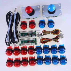 Arcade Control Kit 2 Player LED Red Blue Sanwa 0001
