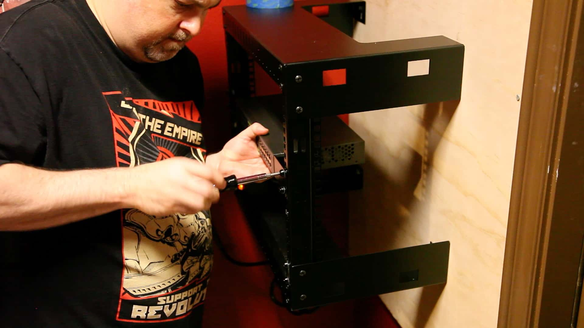 Installing A 19 Network Rack At Home The Geek Pub Whole House Structured Wiring Networking Setups Cabinets Panels 0007