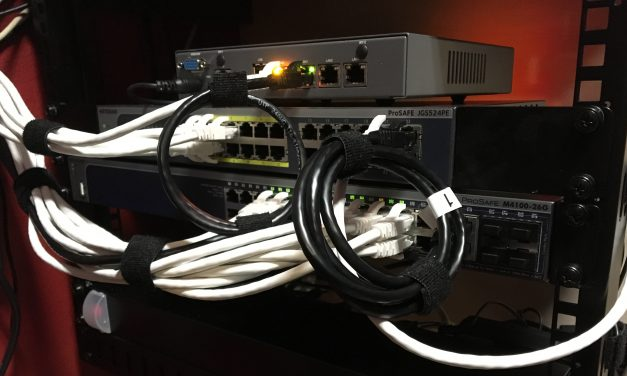 Installing a 19″ Network Rack (at home)