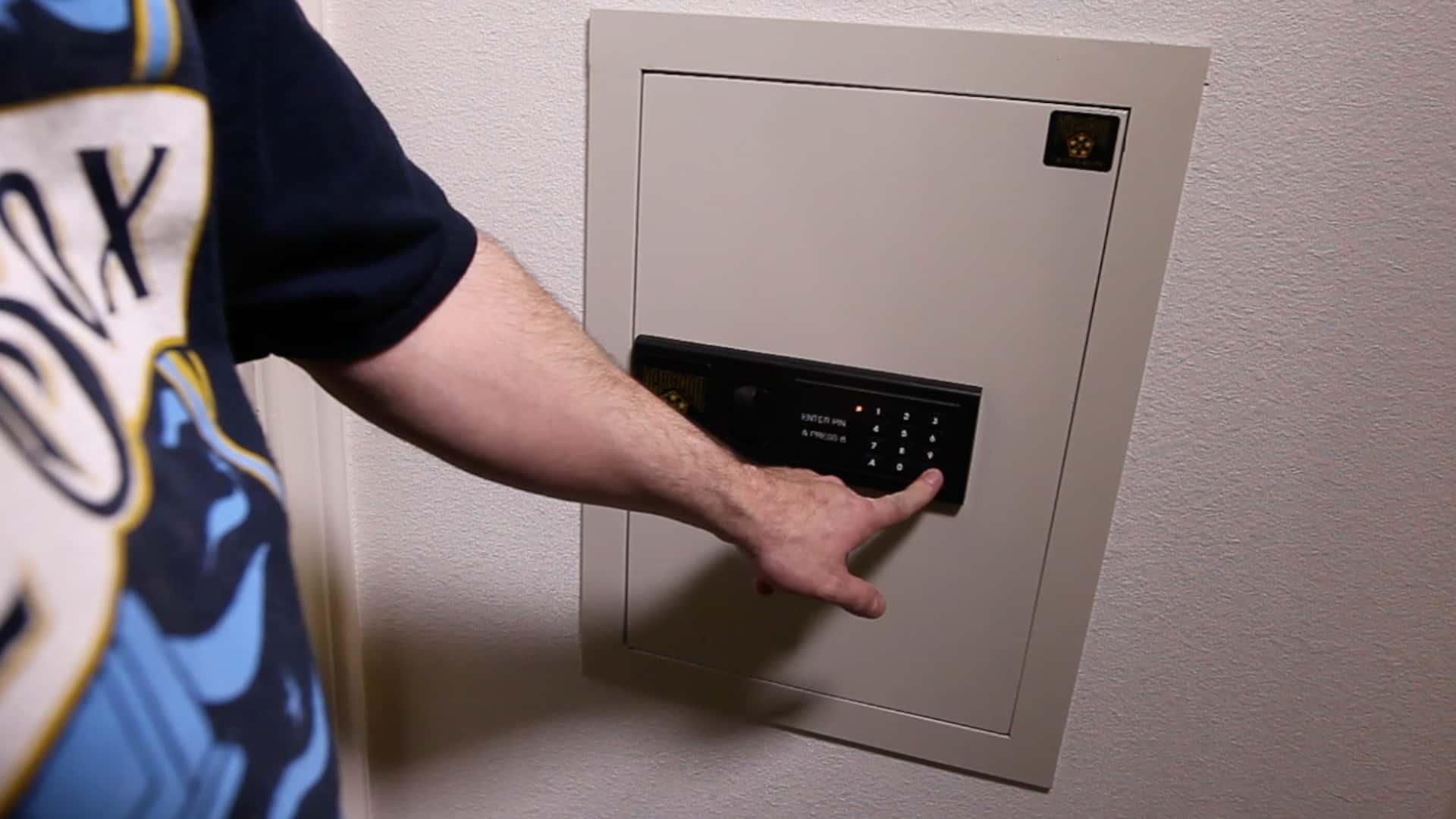 install a hidden wall safe