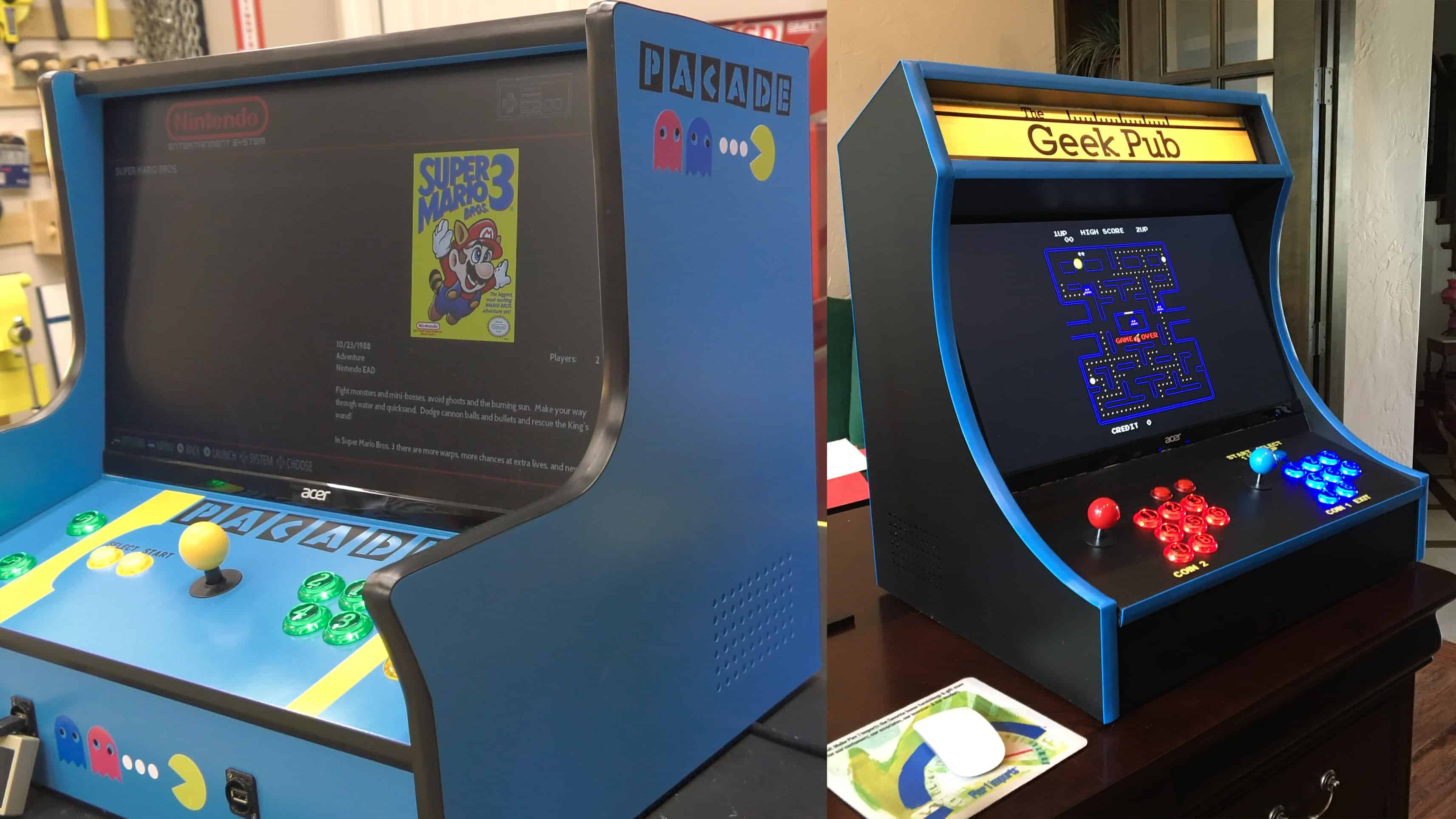 Bartop Arcade Two Plan Bundle - The Geek Pub