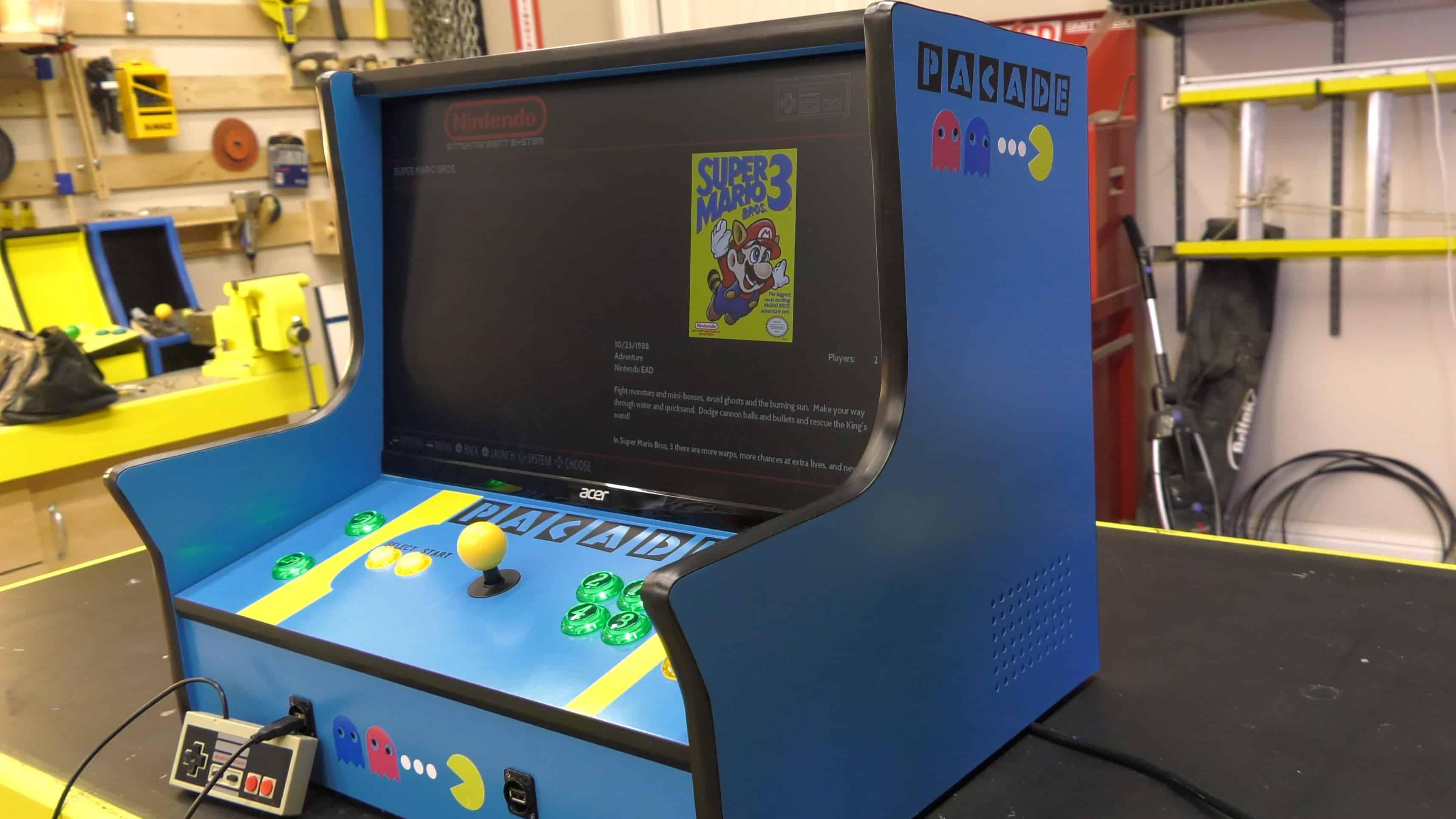 Pacade Bartop Arcade Cabinet Plans