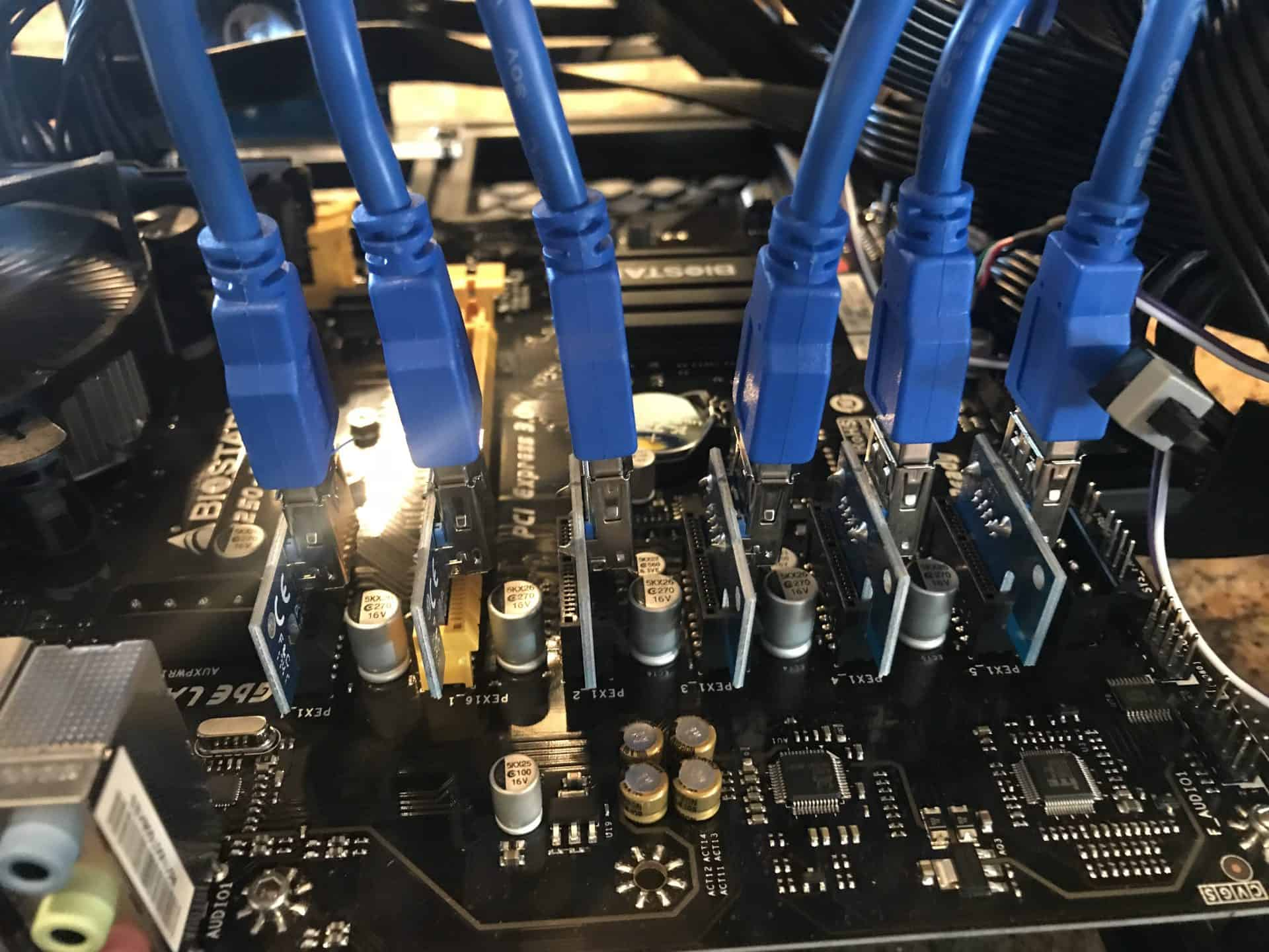 Overclocking a Mining GPU with USB Risers