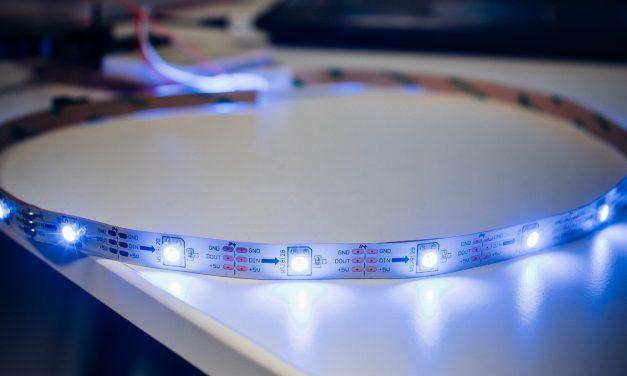 Wiring WS2812b Addressable LEDs to the Raspbery Pi