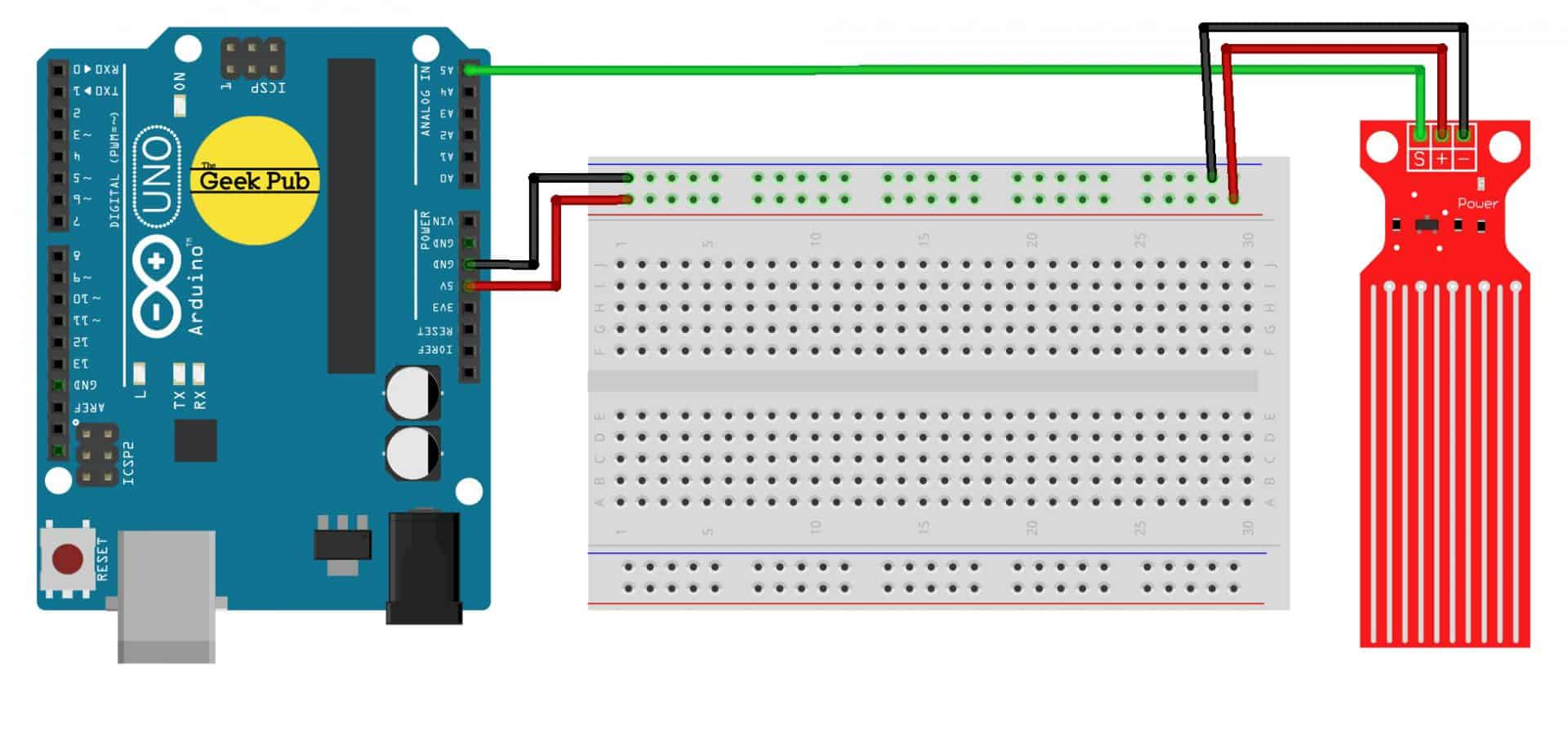 Arduino Water Level Sensor Tutorial - The Geek Pub on