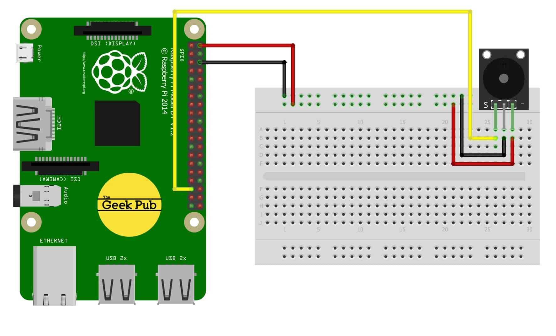 Sensor Wiki: KY-006 Passive Piezo-Buzzer Module - The Geek Pub
