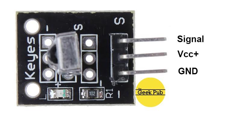 KY-022 VS1838B IR Infrarot Empfänger Modul Infrared Sensor Arduino Raspberry Pi