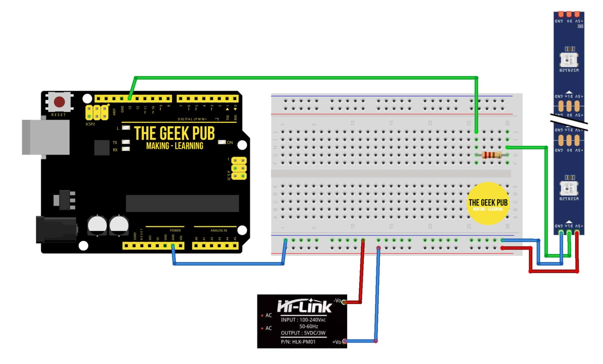 Cylon Eye Wiring diagram Knight Rider Arduino