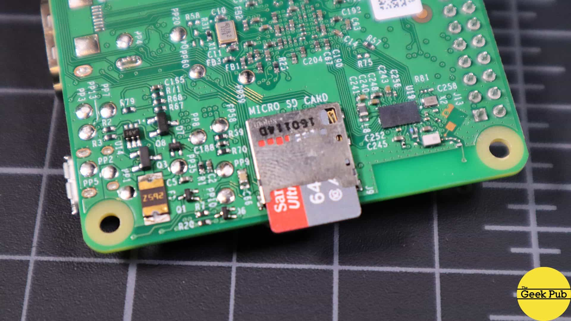insert the newly burned SD card
