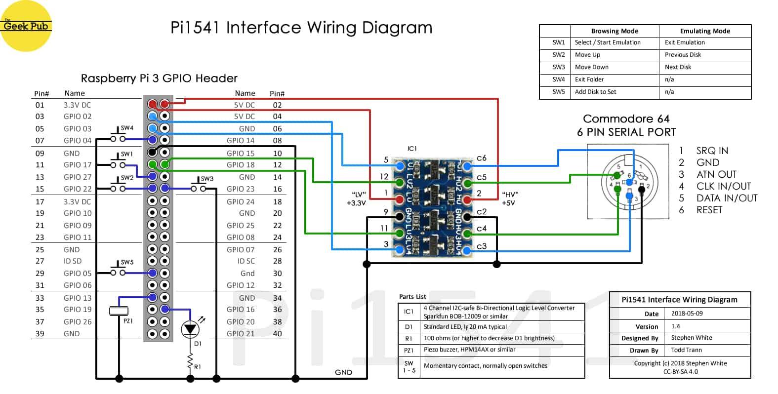Pi1541 schematic