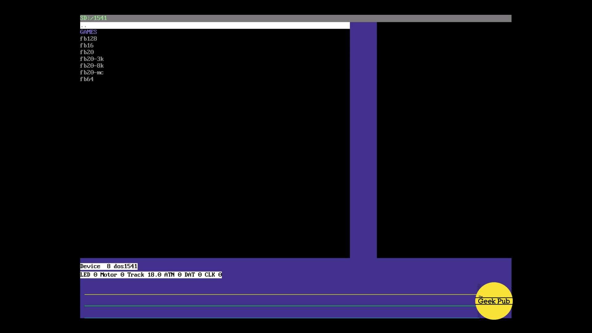 pi1541 home screen hdmi