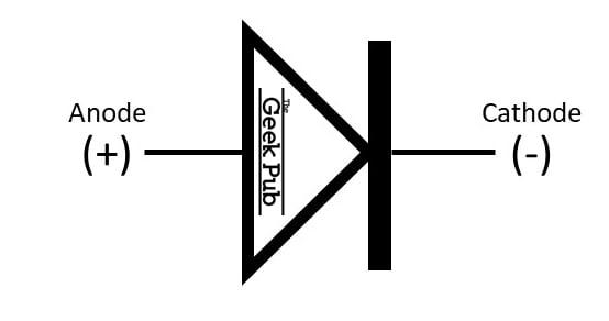standard diode symbol