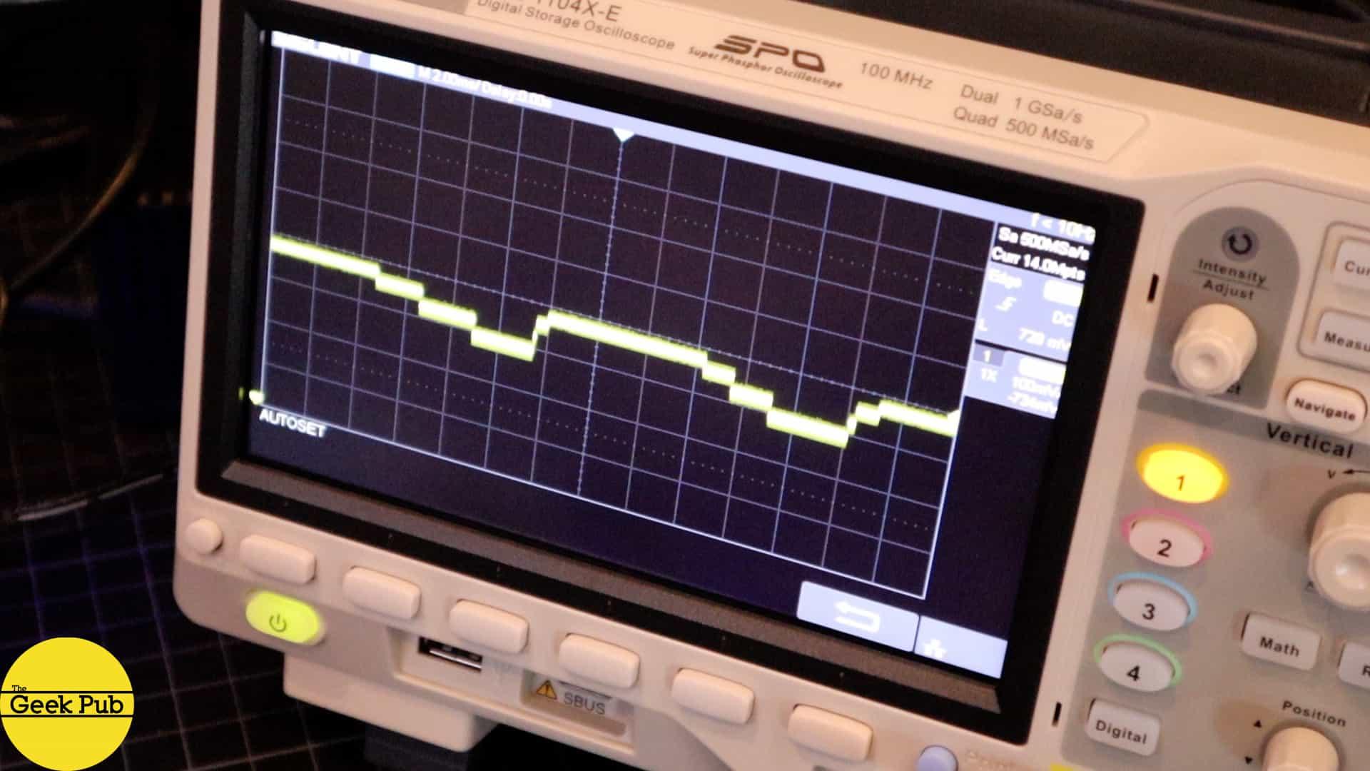 commodore 64 SID chip oscilloscope
