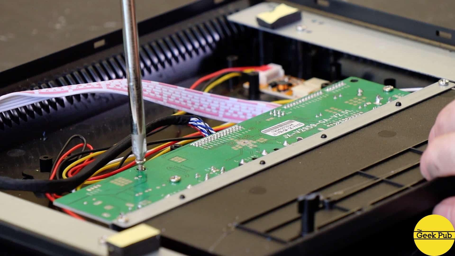 remove LCD mainboard