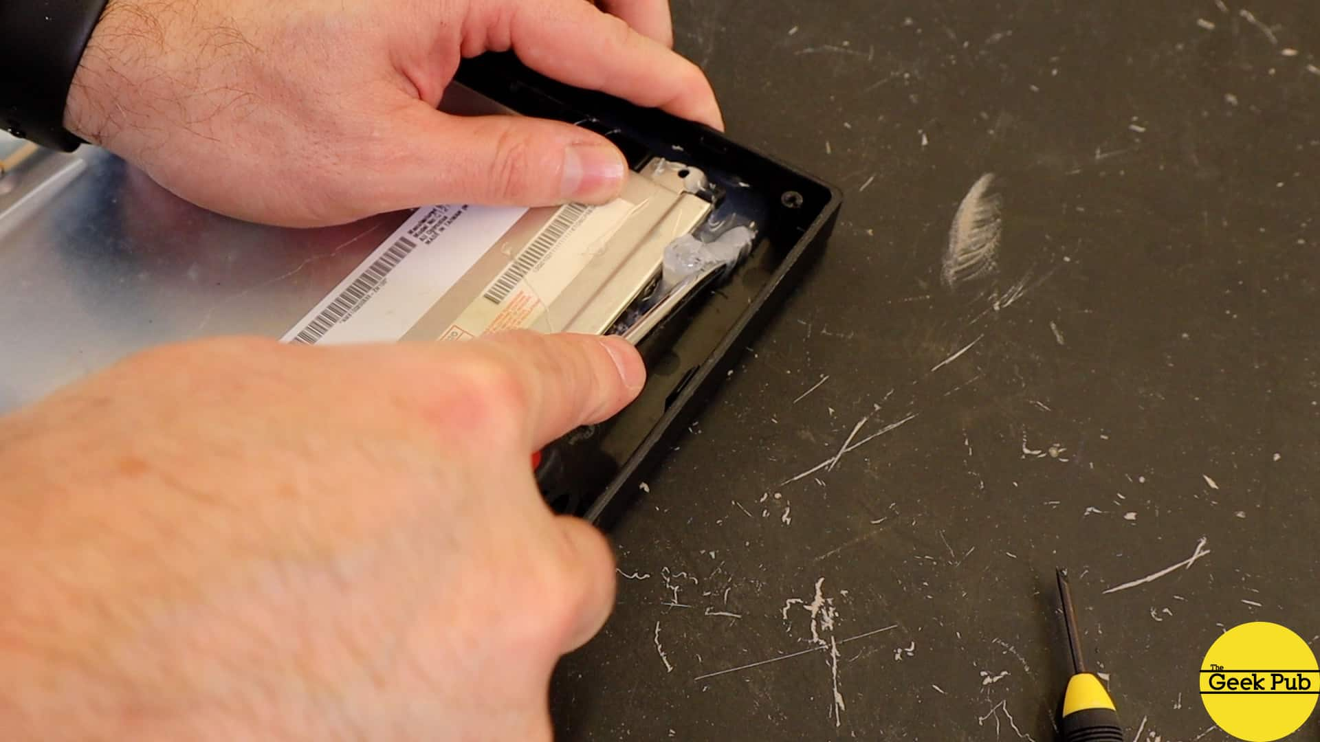removing the glue from the LCD bezel