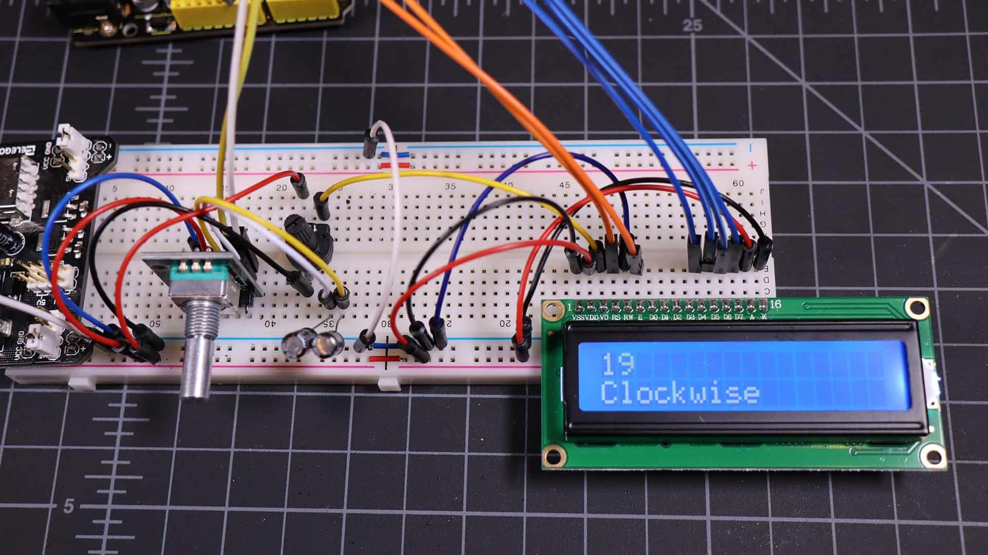 completed rotary encoder project
