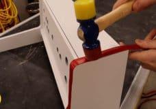 Installing T-molding wall mount arcade