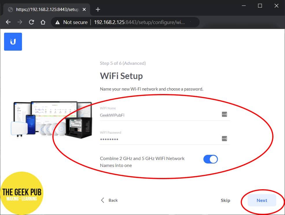 Unifi WiFi Settings