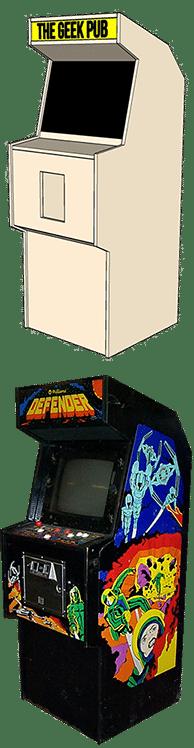 Defender Arcade Cabinet Plans