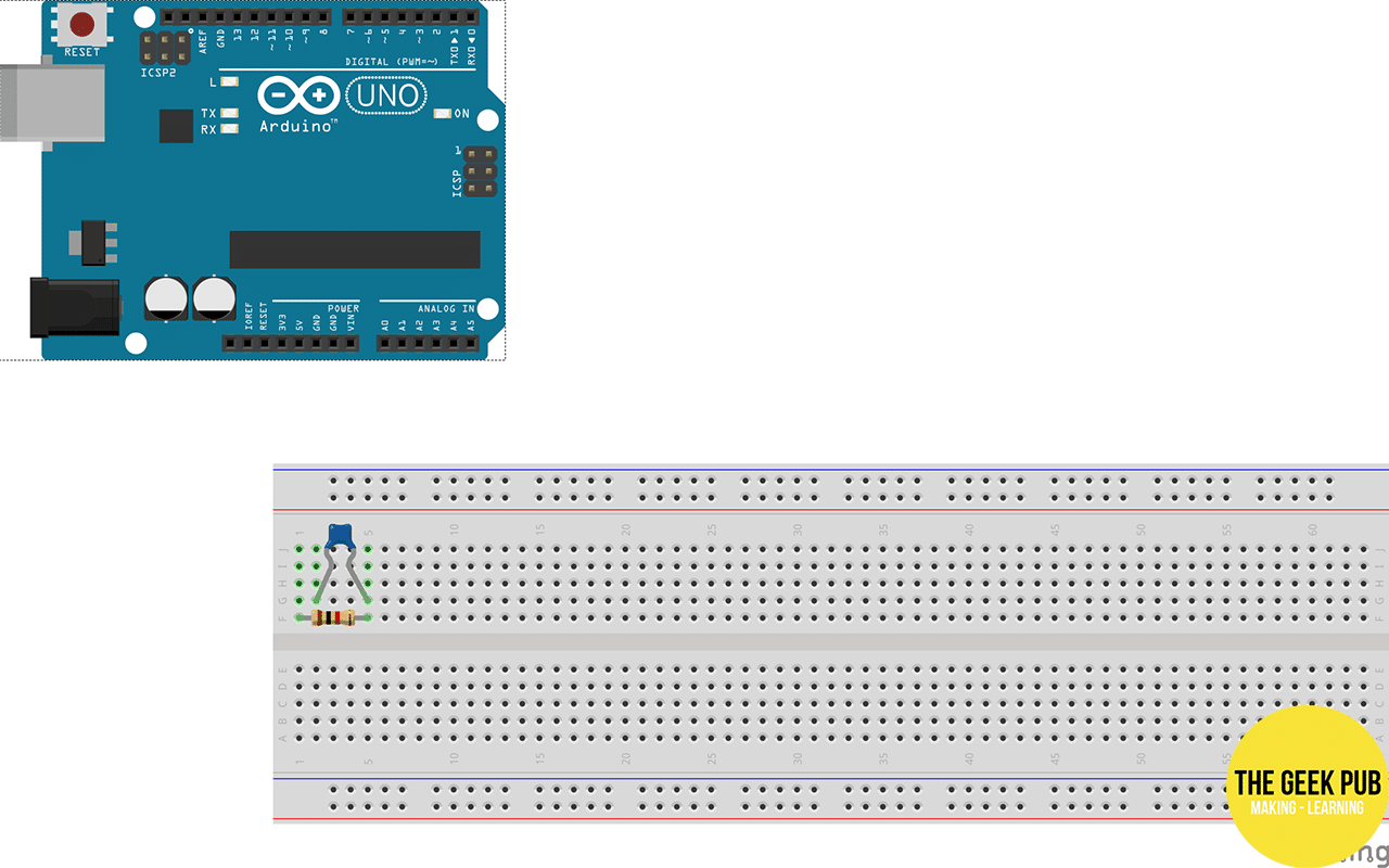Connecting the Arduino Uno to the breadboard