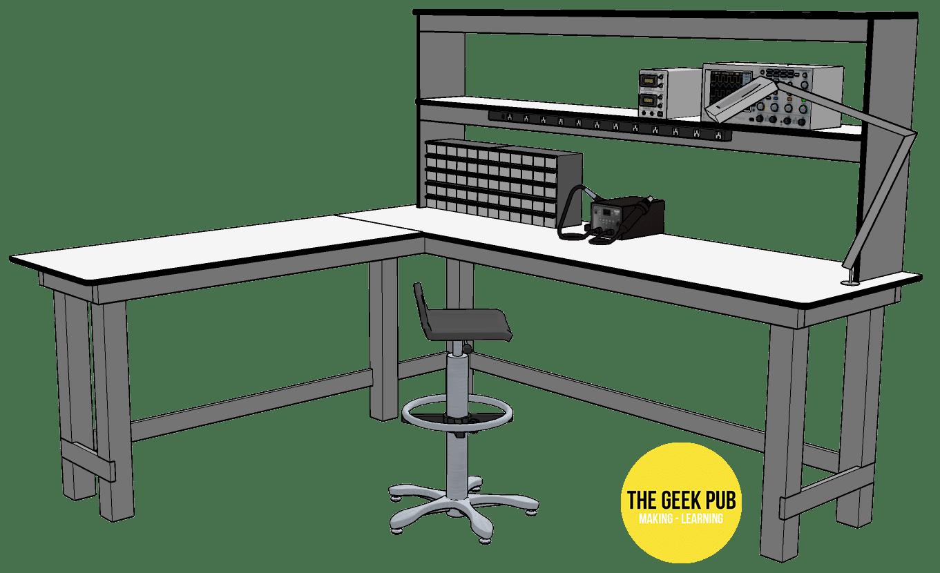 Ultimate Electronics Workbench Design Sketchup