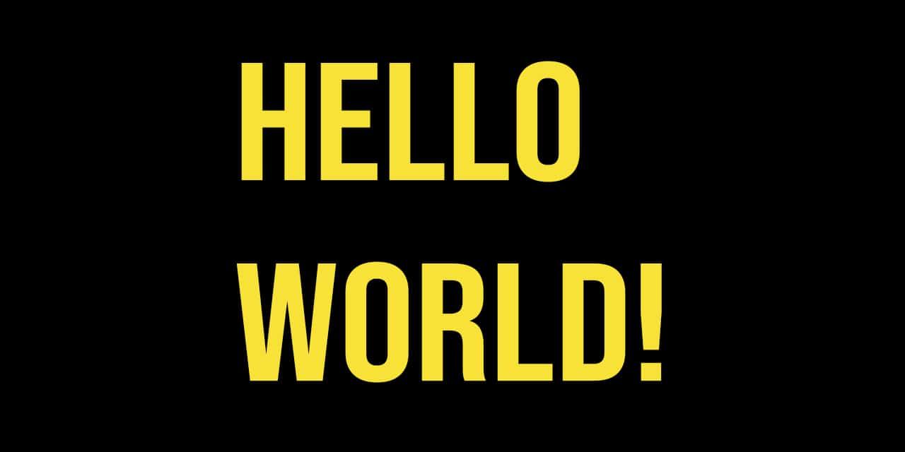 Arduino Basics Hello World