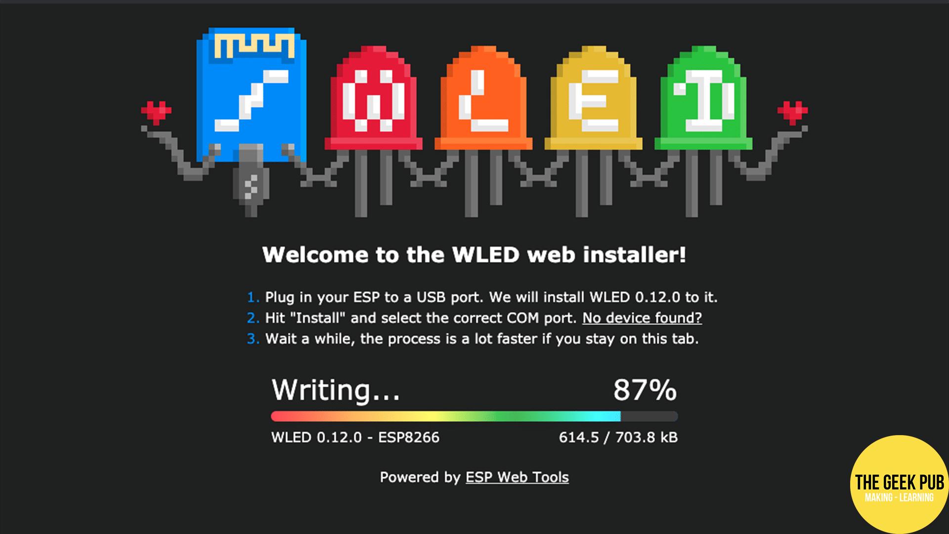 WLED installation progress