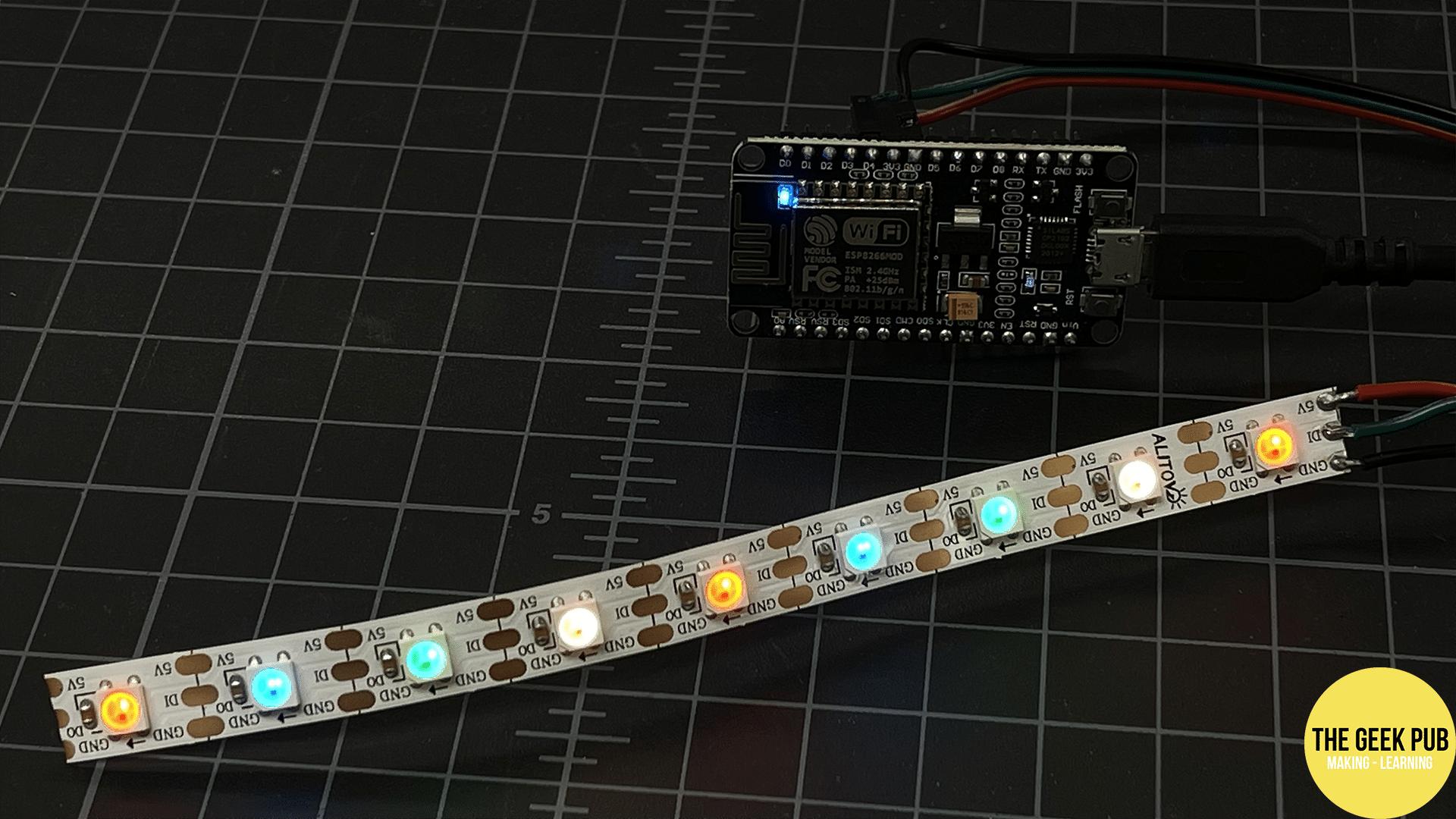 LED Strip Lit up!
