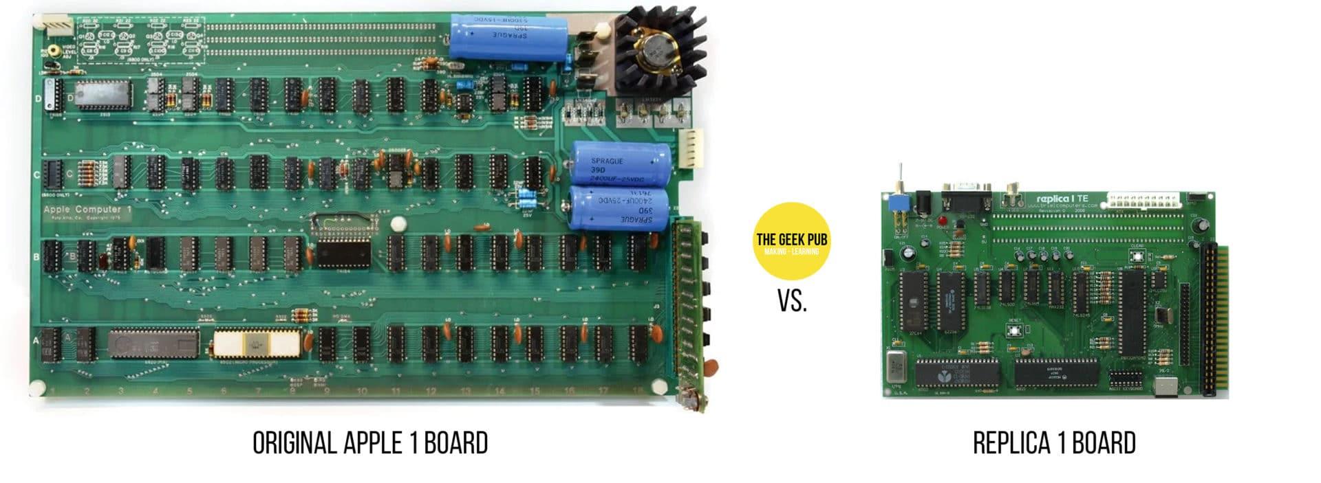 Original Apple 1 VS Replica 1