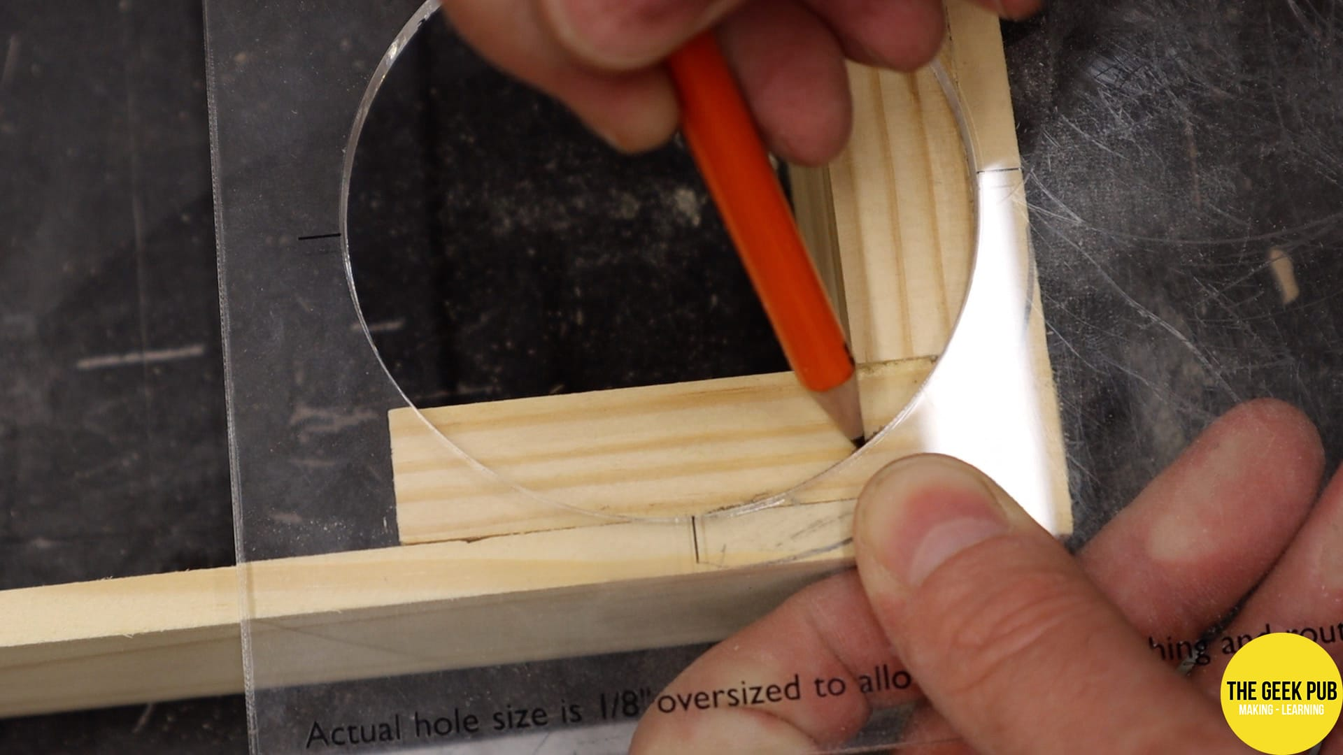 Using a circle jig for rounded corners