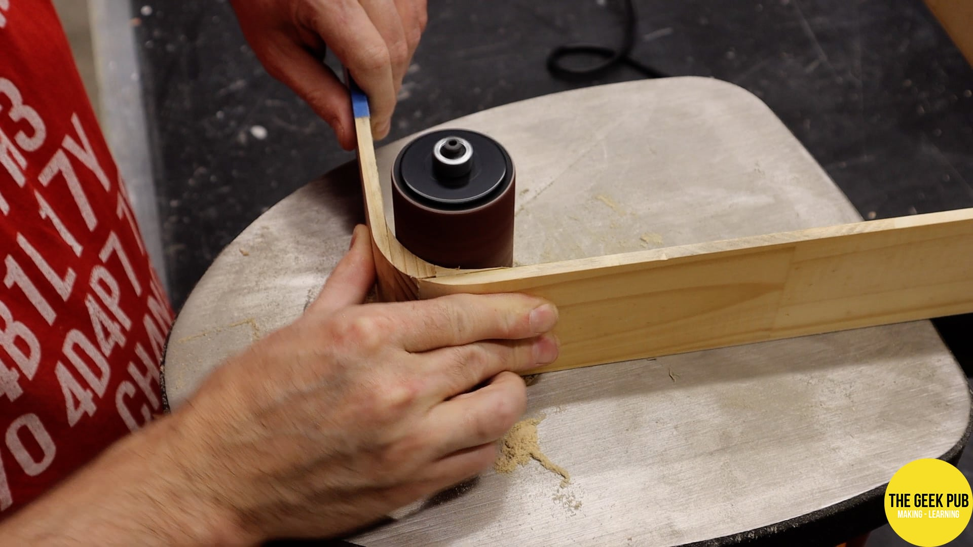 rounded corners on the spindle sander