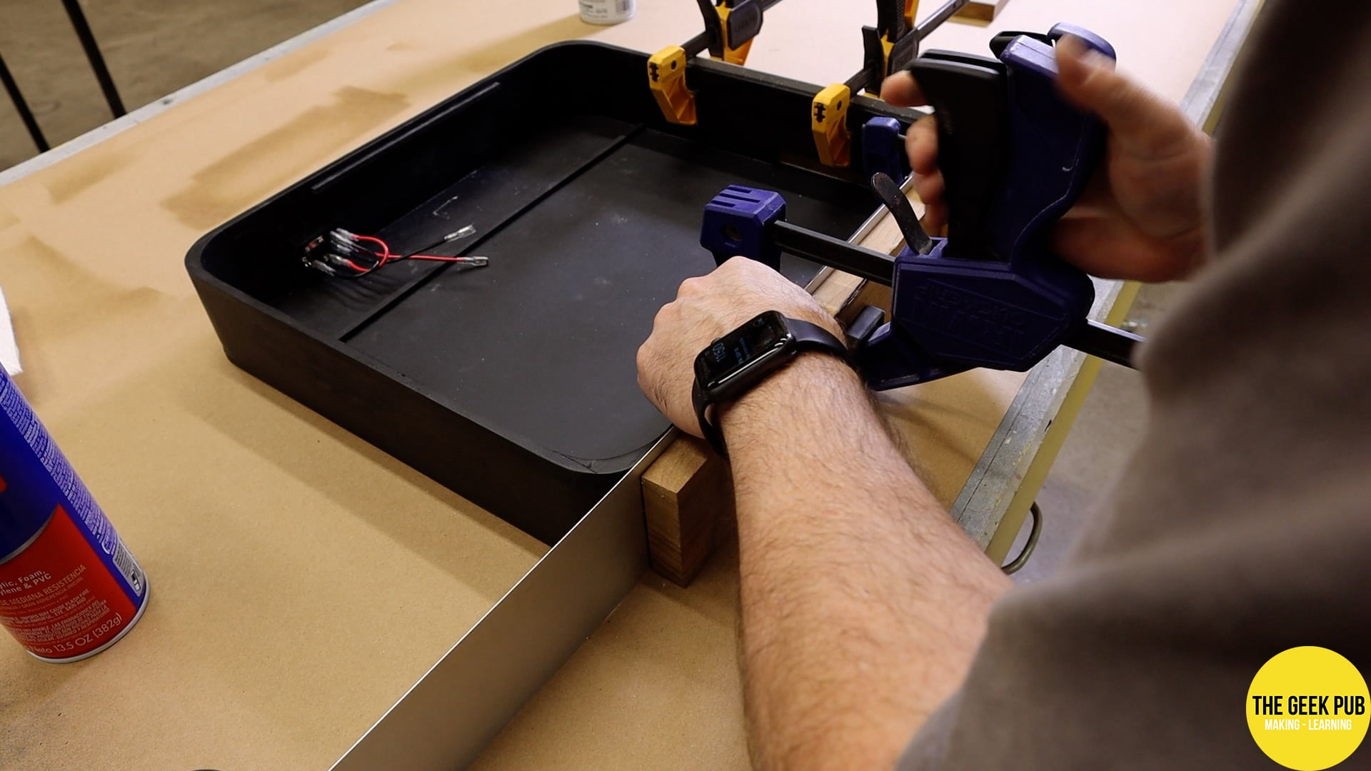 clamping the aluminum to the case