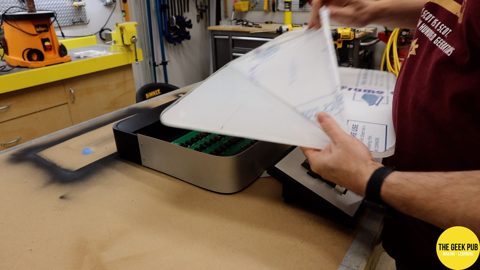 Removing the protective plastic sheet