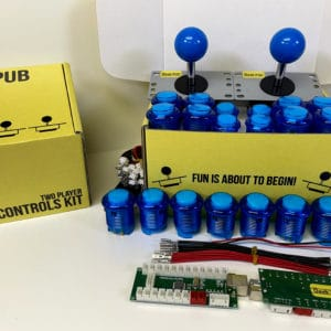 Arcade Control Kit 2-Player LED Blue/Blue